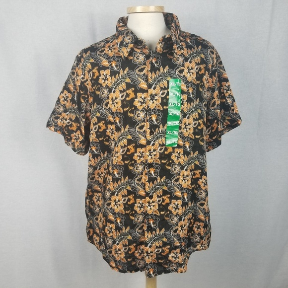 7c566736 Margaritaville Shirts | Nwt Xl Black Floral Hawaiian Shirt | Poshmark